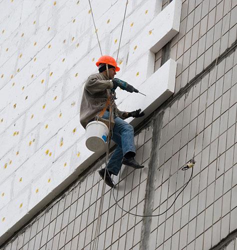 Утепление фасада многоквартирного дома в Набережных Челнах